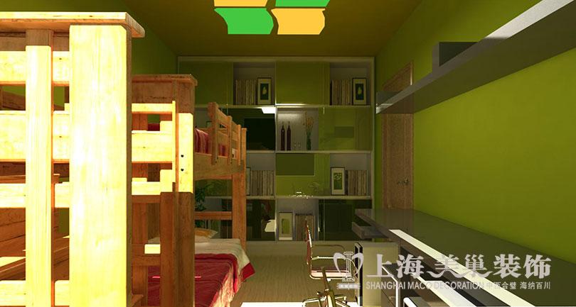 二居 简约 现代 尚城国际 儿童房图片来自河南美巢装饰在南阳尚城国际87平简约装修效果图的分享