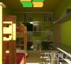 尚城国际装修三室两厅现代案例140平效果图——儿童房效果图