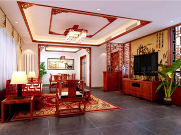 西山庭院-142平米-中式风格