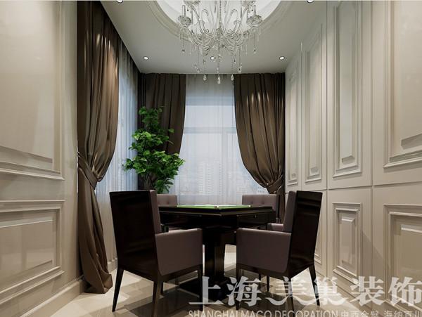 意墅蓝山简欧装修实际上200平样板间效果图——休闲室布局