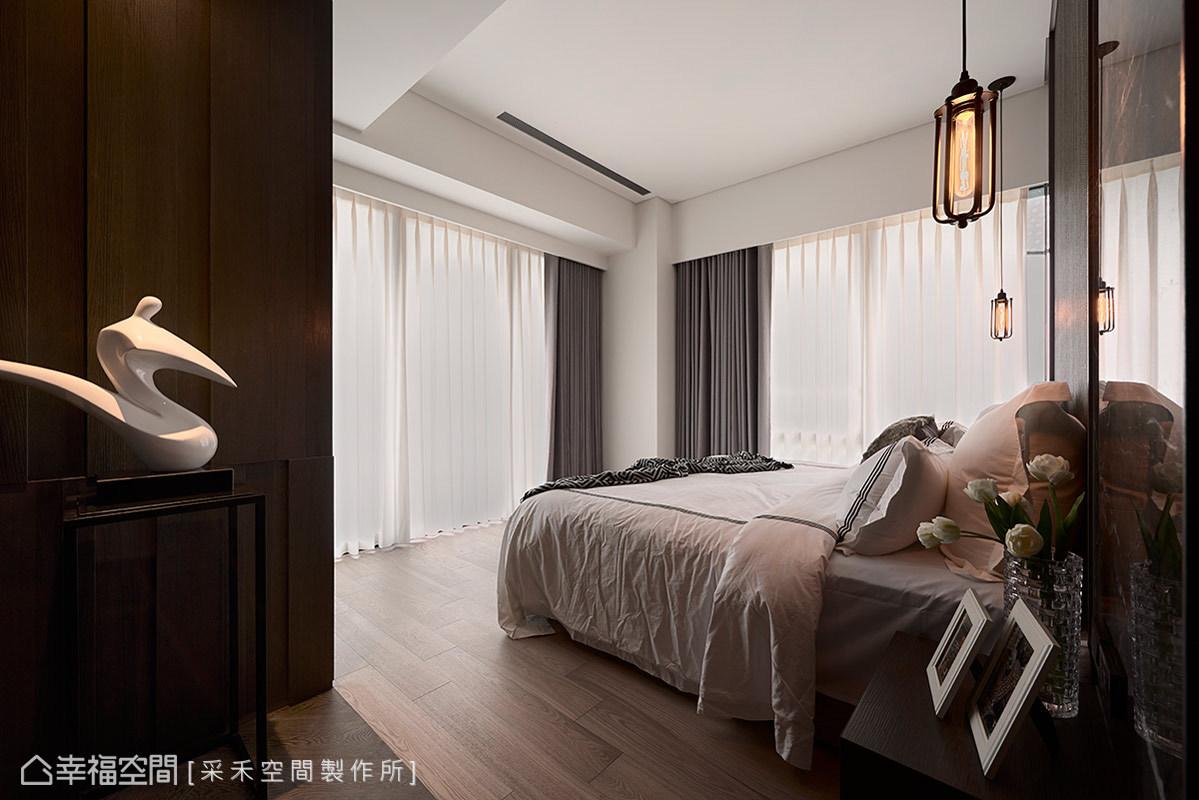 三居 休闲 简约 收纳 现代 卧室图片来自幸福空间在145平山河交响曲 景观流线宅邸的分享