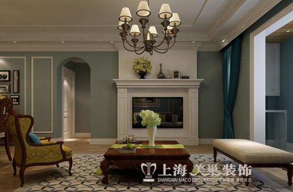 贰号城邦120平三室两厅简美装修效果图案例——电视背景墙