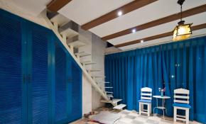 地中海 大海 风情 蓝色 楼梯图片来自一号家居网成都站在鹭湖宫的分享