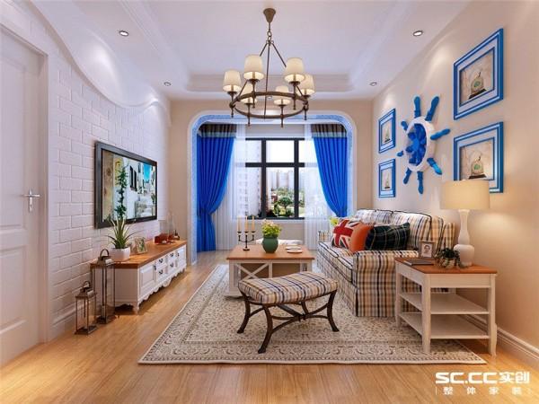 客厅是主人品味的象征,体现了主人品格,地位,也是交友娱乐的场合,客厅整个空间映入眼帘的就是这样纯粹的蓝色和白色空间,并没有其他浓重的色彩掺杂进来。