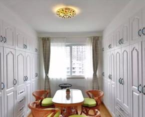 地中海 跃层 复式 旧房改造 客厅 北京装修公 衣帽间图片来自沙漠雪雨在270平米蓝白地中海风大宅的分享