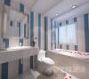 本套设计采用地中海风格,本套住宅面积190平方。本套住宅主要功能分区为休息区、餐饮区和起居区。