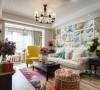 波普风格公寓·让家里明媚如春