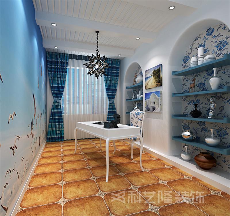 书房图片来自天津科艺隆装饰在翠金滩美墅岛-190㎡-地中海风格的分享