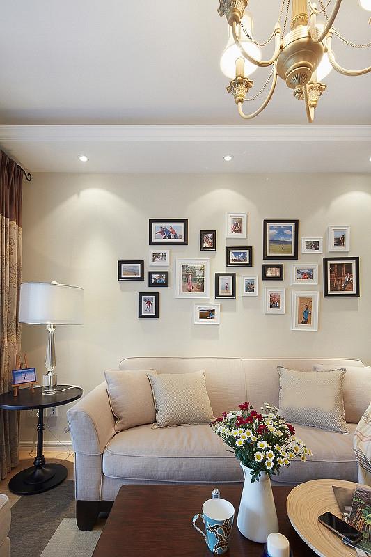 美式 屌丝 小清新 小资 客厅图片来自一号家居网成都站在77㎡清新美式小2居 开放式厨房的分享
