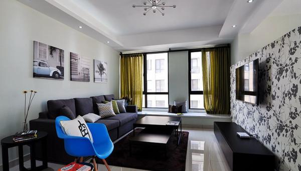 客厅:主要以简式风格为主,增添户主个性化要求。