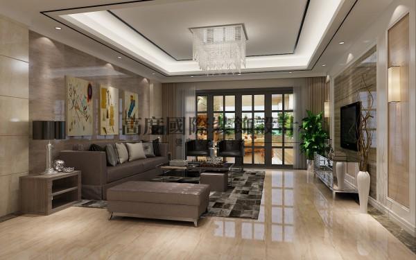【高清】英伦联邦里面的现代风格 客厅装修设计   成都高度国际装饰设计
