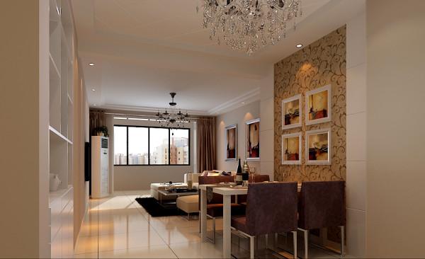 客餐厅:墙纸色彩和餐桌椅搭配非常耐看,经典。