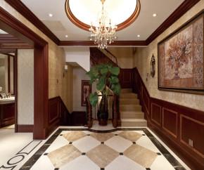 别墅 美式 80后 楼梯图片来自成都V2装饰在万科五龙山-舒适美式别墅的分享