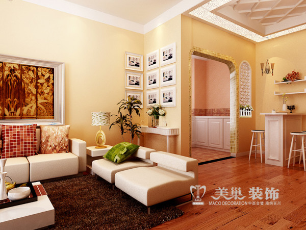 南阳宇信凯旋城两室两厅户型86平案例装修效果图——厨餐厅设计