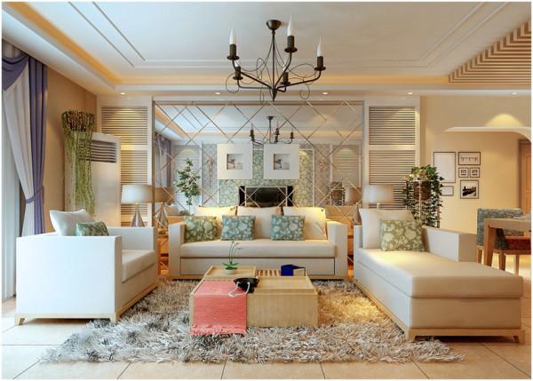 整个客厅全贴近大自然。简单又略带复杂的造型,温馨的小摆件。