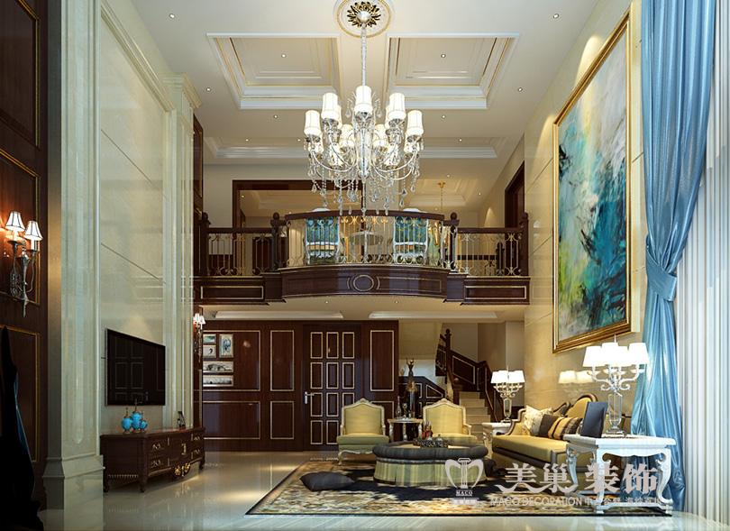 别墅 普罗旺世 新古典装修 客厅图片来自河南美巢装饰在普罗旺世350平别墅新古典装修图的分享