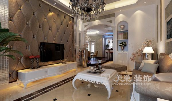 新古典装修世纪村190平四室两厅案例效果图——客餐厅布局