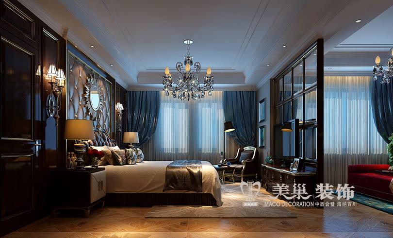 别墅 普罗旺世 新古典装修 卧室图片来自河南美巢装饰在普罗旺世350平别墅新古典装修图的分享