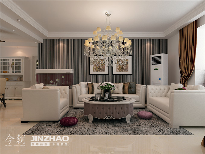 客厅图片来自石家庄装饰家美1在【石家庄装修】金域蓝湾的分享