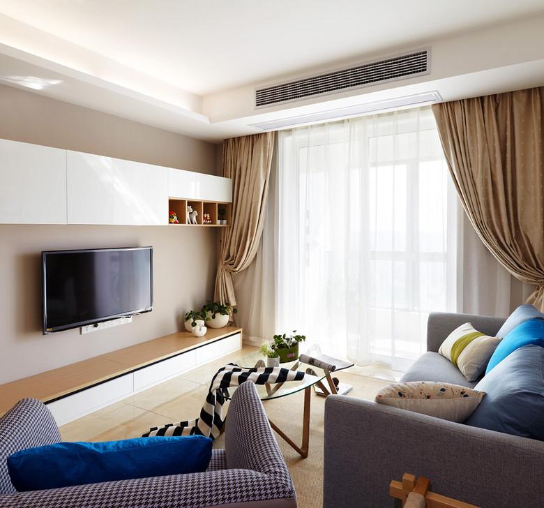 三居 80后 小资 收纳 客厅图片来自二十四城装饰重庆分公司在春森彼岸的分享