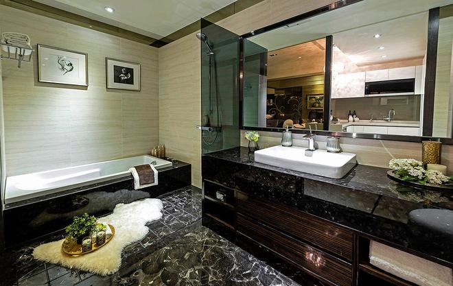 卫生间图片来自一号家居网成都站在60平梦想小豪宅的分享