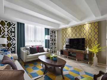 温暖的空间 145平简约美式悠闲居