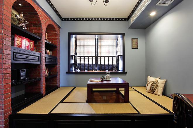 三居 白领 80后 书房图片来自一号家居网成都站在皇冠国际105中式复古雅居的分享