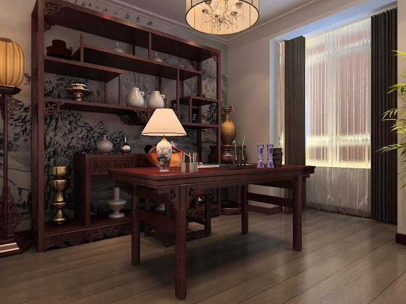 田园 四居 凯旋门 书房图片来自百家设计小刘在凯旋门164平中式田园风格的分享
