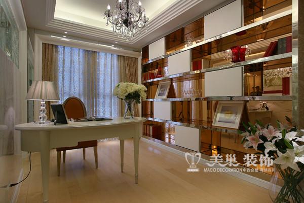 宇信凯旋城装修简欧风格华丽设计效果图——书房布置
