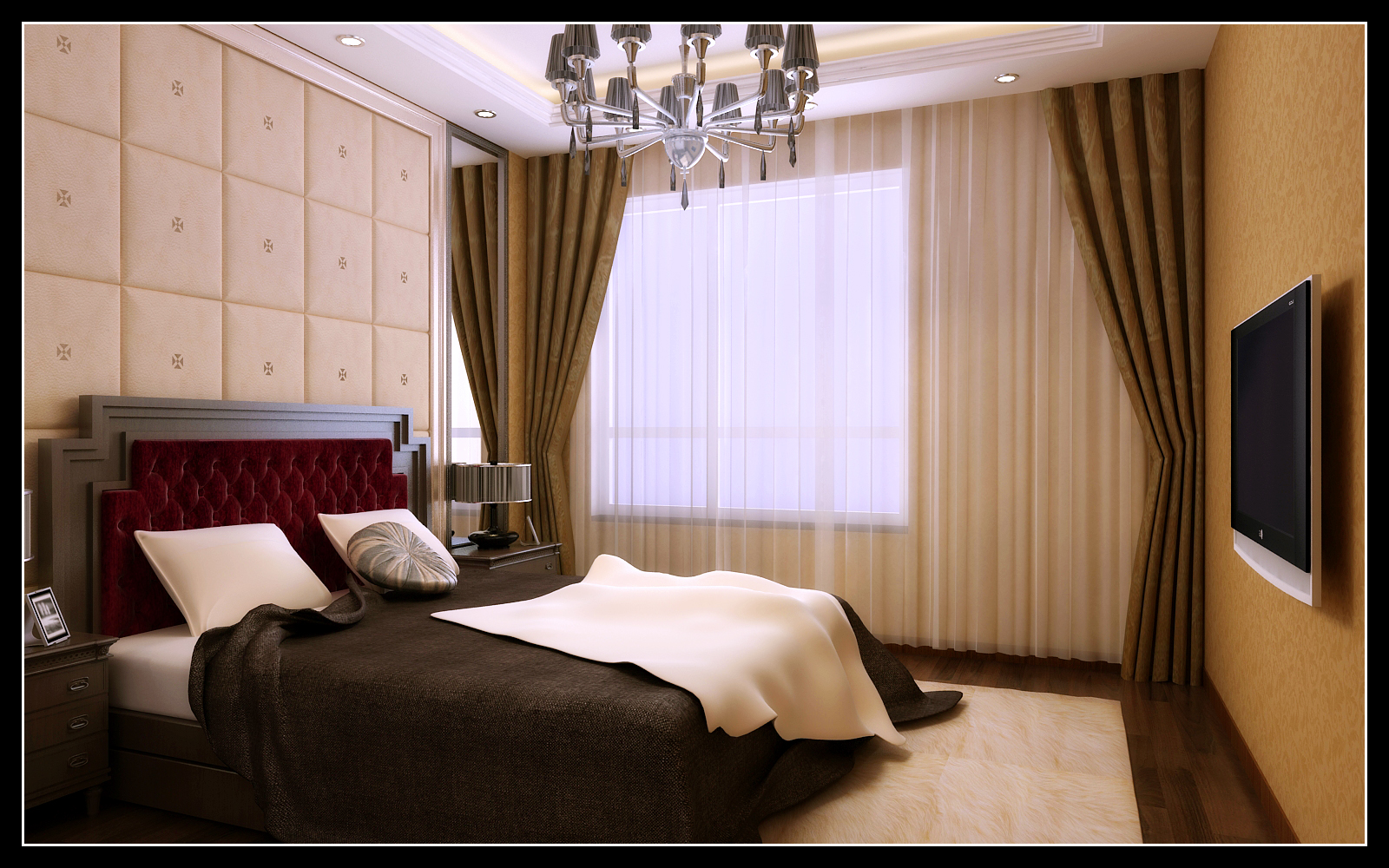 欧式 四居 凯旋门 卧室图片来自百家设计小刘在凯旋门164平简欧风格的分享