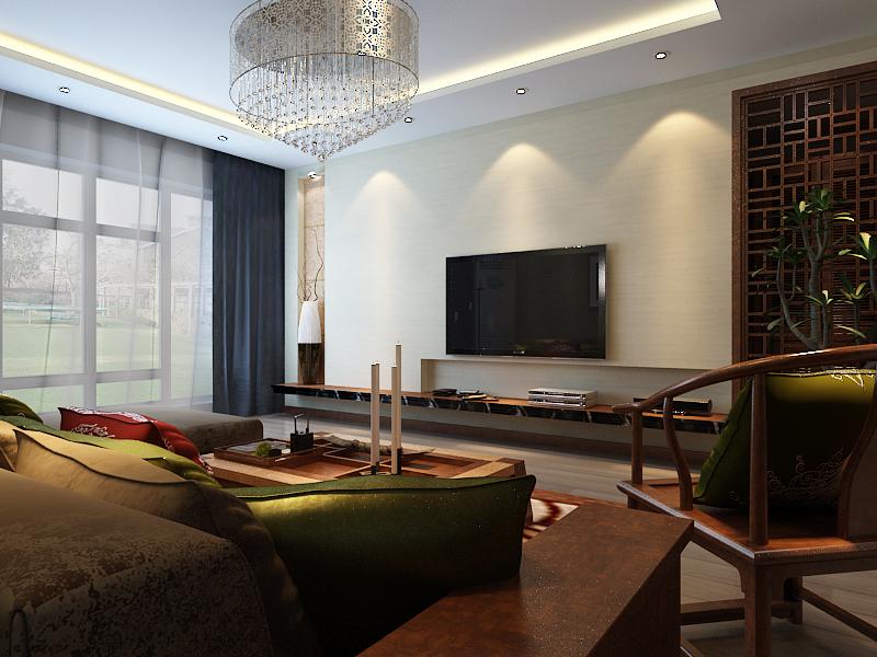 田园 四居 凯旋门 客厅图片来自百家设计小刘在凯旋门164平中式田园风格的分享