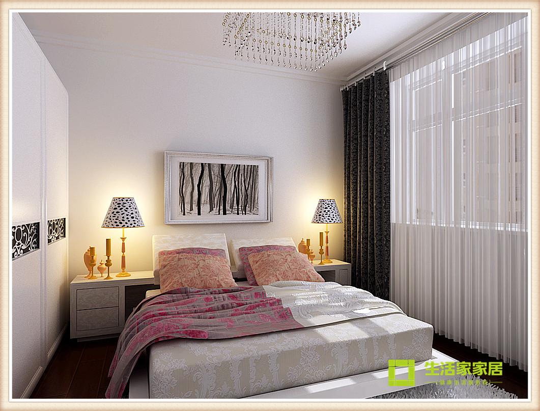 简约 现代 二居 白领 收纳 80后 旧房改造 小资 天津装修 卧室图片来自天津生活家健康整体家装在诺德中心现代简约风格的分享