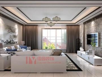 时代蝴蝶湾新中式风格装修案例