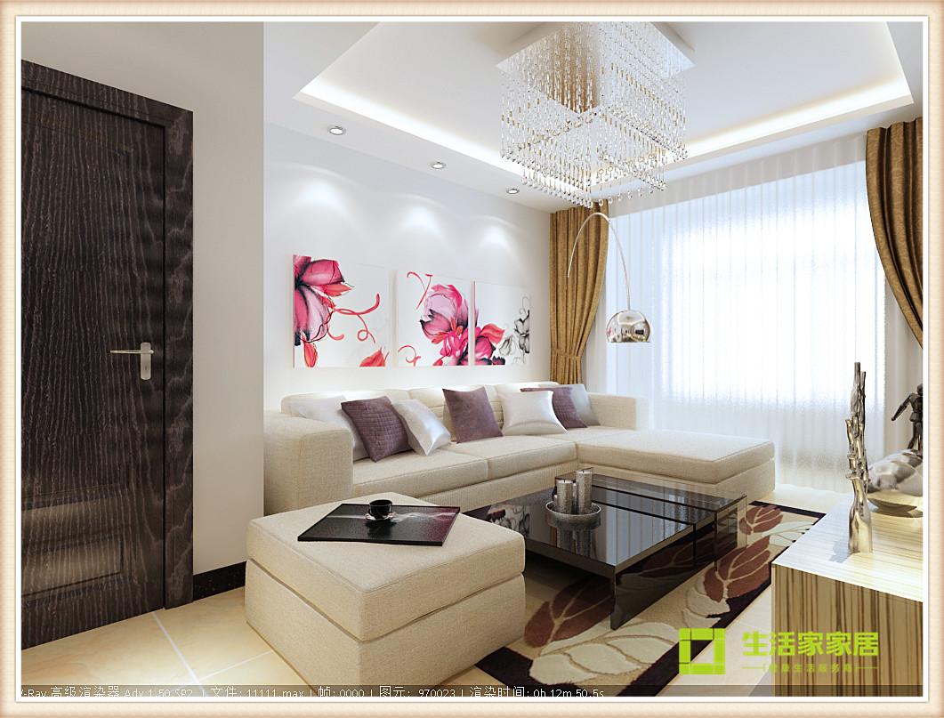 简约 现代 二居 白领 收纳 80后 旧房改造 小资 天津装修 客厅图片来自天津生活家健康整体家装在诺德中心现代简约风格的分享