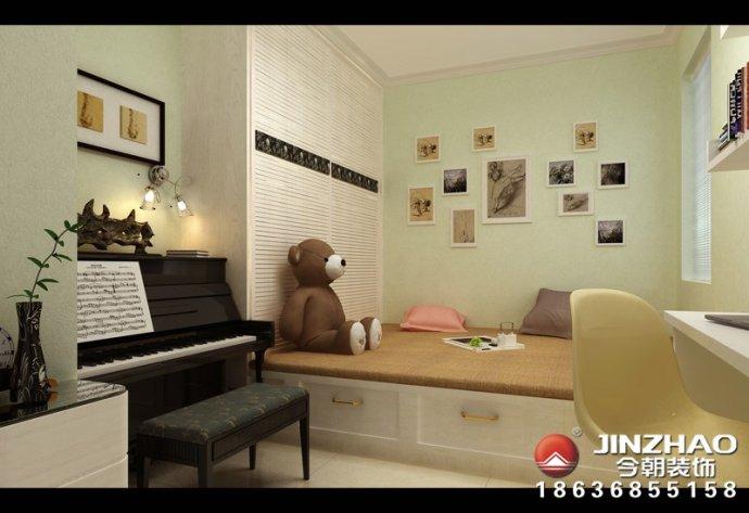 简约 卧室图片来自装家美在坤泽十里城124平米现代简约风的分享