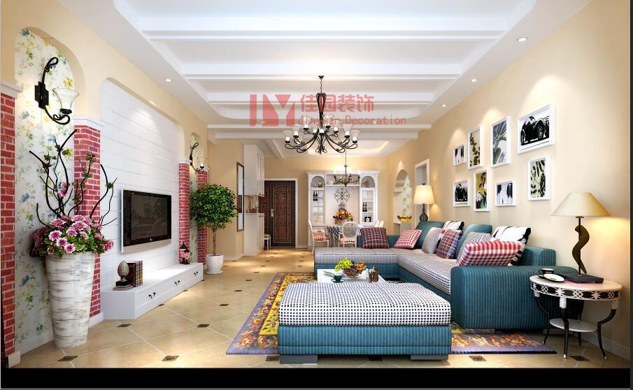 田园 混搭 客厅图片来自佳园装饰在龙湾国际田园混搭风格装修案例的分享