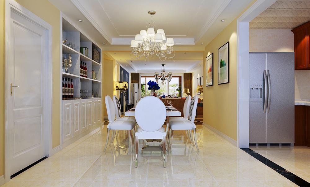三居 简约 餐厅图片来自乐豪斯装饰张洪博在奥北公元168平米现代风格装修的分享