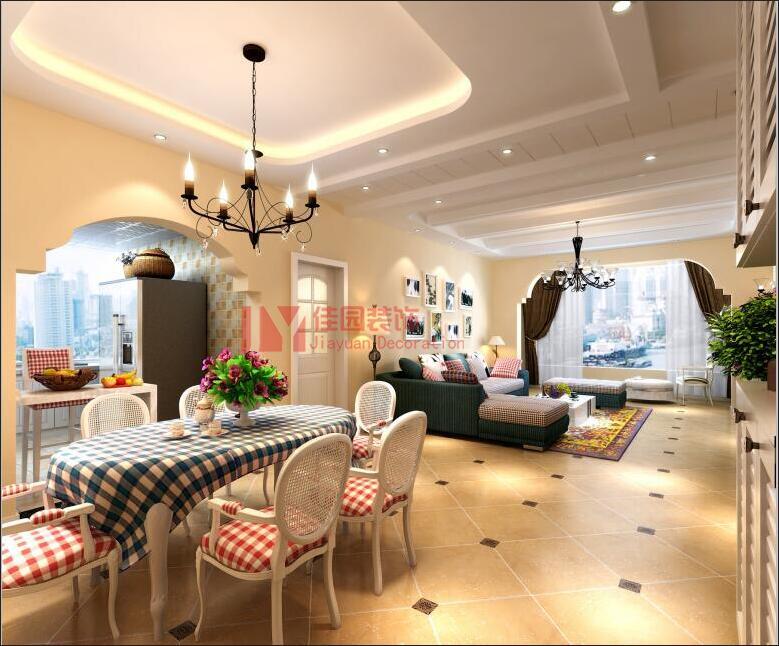 田园 混搭 餐厅图片来自佳园装饰在龙湾国际田园混搭风格装修案例的分享