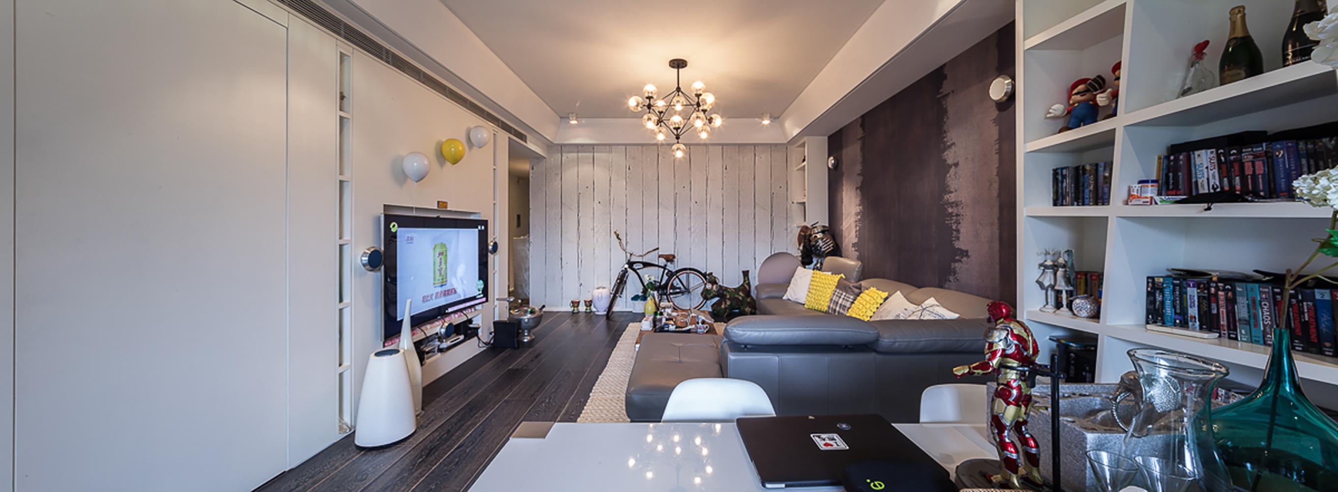 简约 别墅 黑白灰 客厅图片来自一号家居网成都站在翠湖天地的分享