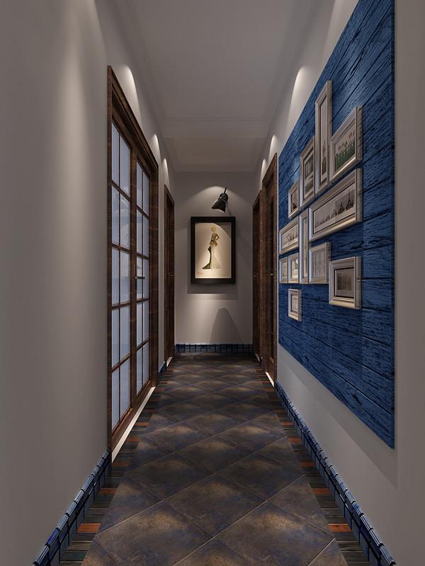 门厅整个没有太复杂的装饰,只用了一些小型相框做了简单的点缀。