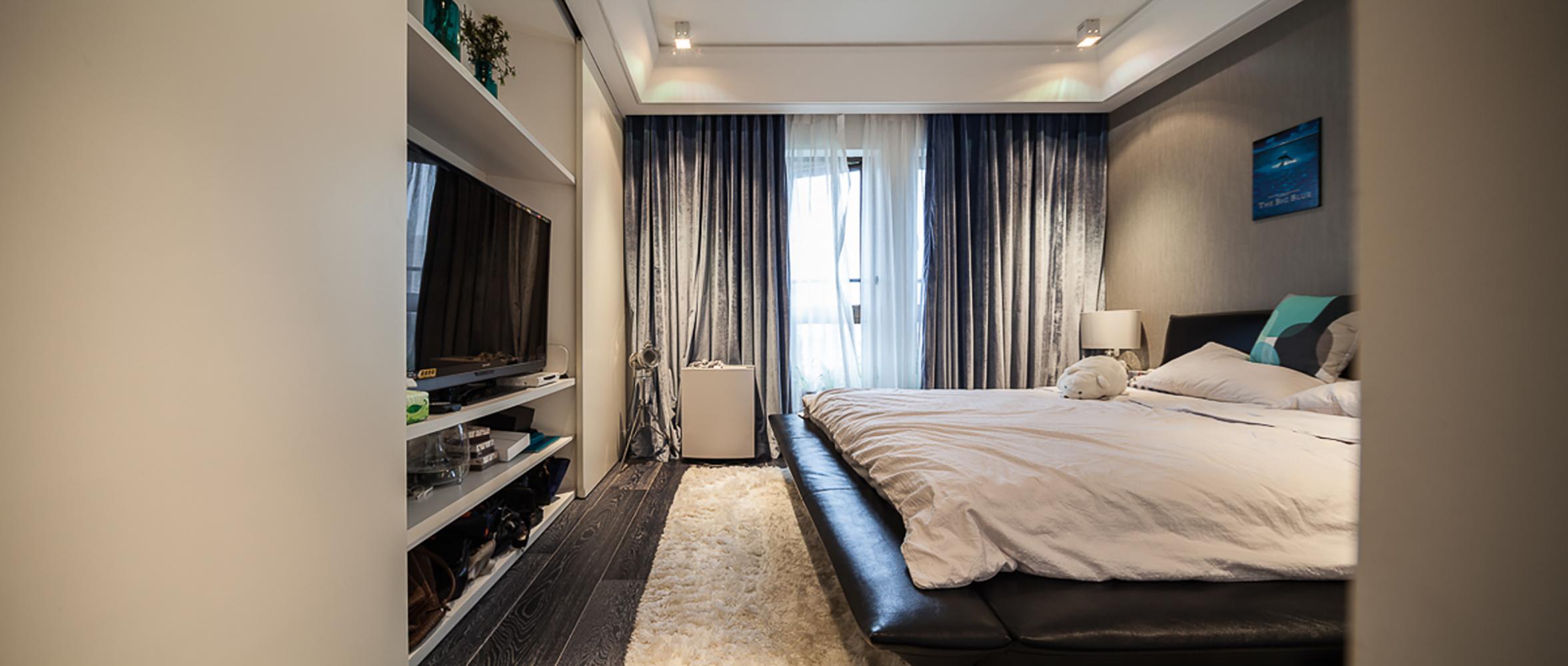 简约 别墅 黑白灰 宜居 卧室图片来自一号家居网成都站在翠湖天地的分享
