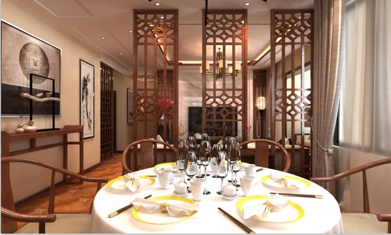 餐厅图片来自佳园装饰在保利春天大道中式风格装修案例的分享