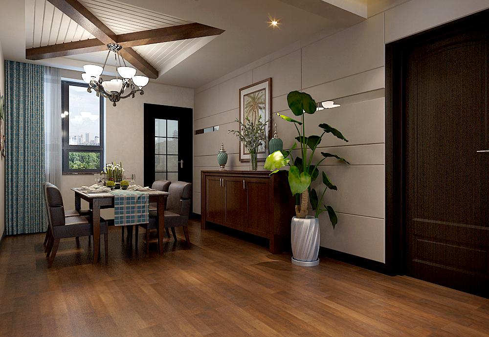 三居 东南亚 大包 餐厅图片来自乐豪斯装饰张洪博在石家庄众美绿都三室138平米户型的分享