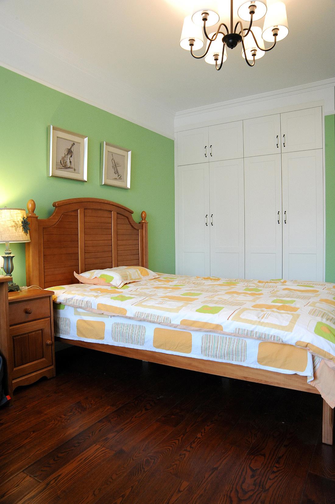 简约 美式 三居 90后 沪上名家 卧室图片来自沪上名家装饰在奶咖色简美风醉美的分享