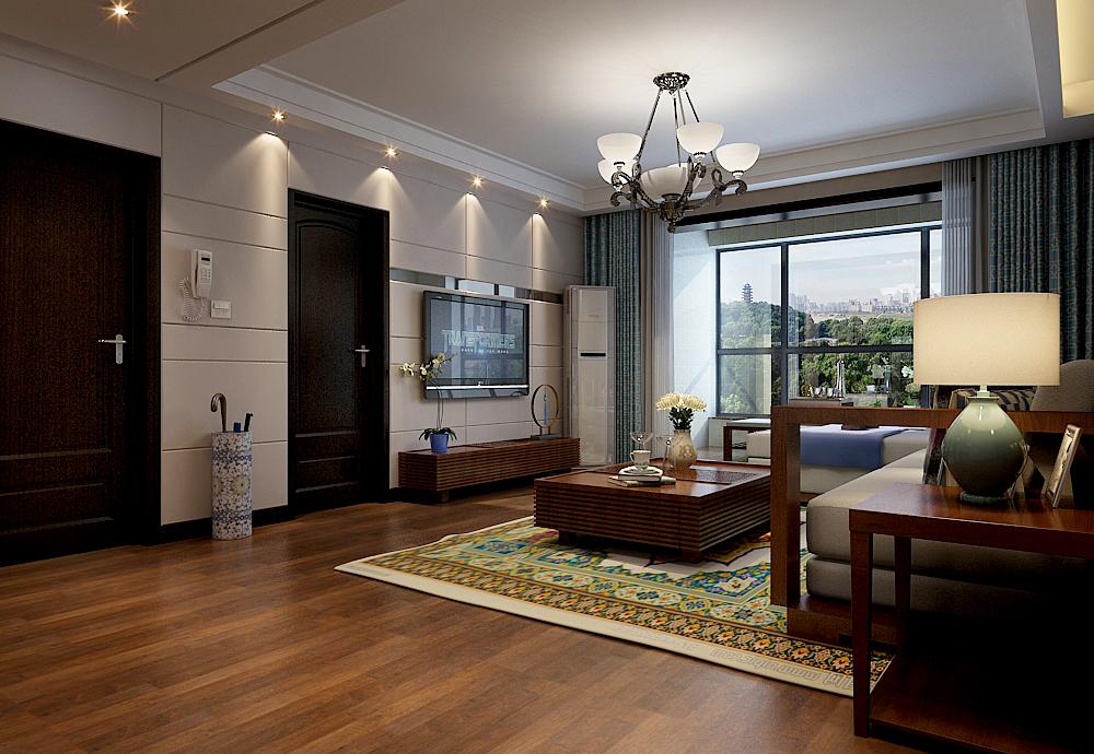 三居 东南亚 大包 客厅图片来自乐豪斯装饰张洪博在石家庄众美绿都三室138平米户型的分享