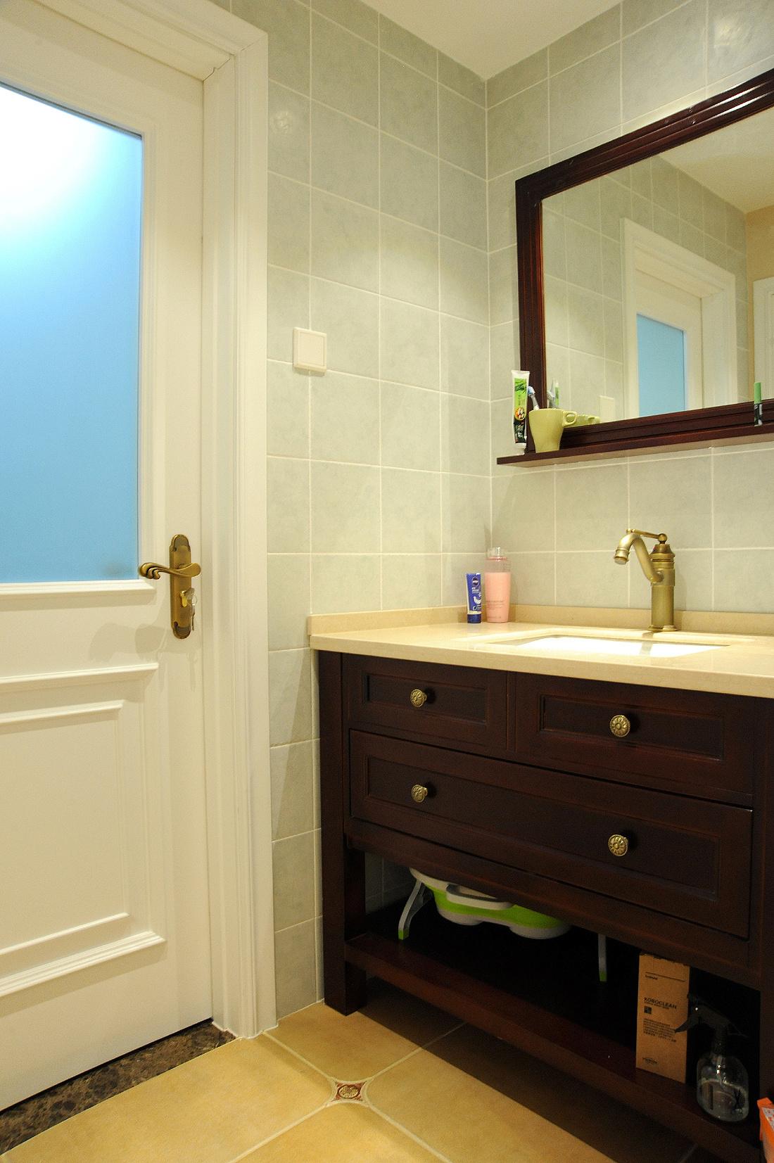 简约 美式 三居 90后 沪上名家 卫生间图片来自沪上名家装饰在奶咖色简美风醉美的分享