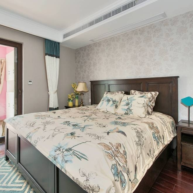 地中海 美式 五居 沪上名家 卧室图片来自沪上名家装饰在美式地中海结合打造完美复古情的分享