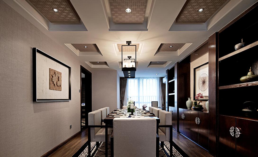 餐厅图片来自贵阳大地装饰在148m²中式风格(金阳新世界)的分享