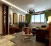 天海98两室户型中式风格