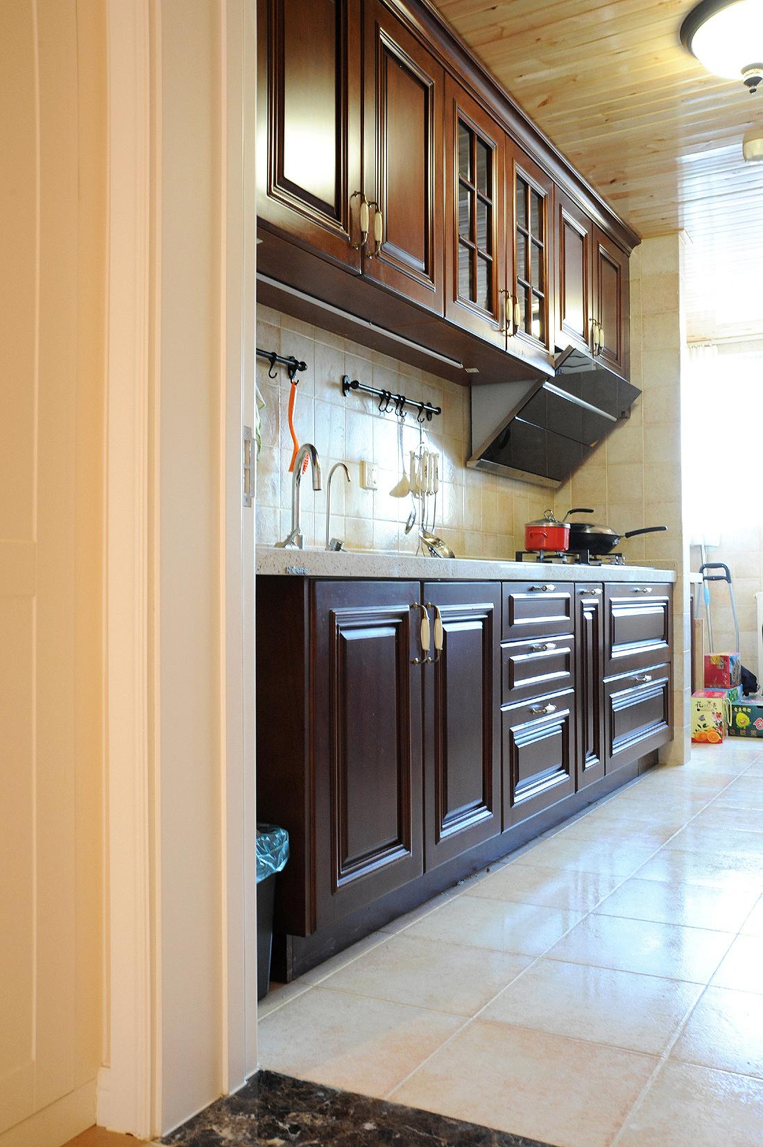 简约 美式 三居 90后 沪上名家 厨房图片来自沪上名家装饰在奶咖色简美风醉美的分享
